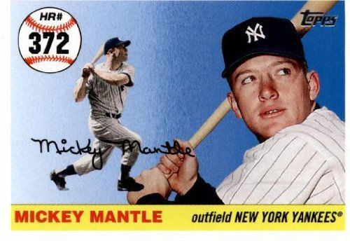 2006 Topps Mantle Home Run History Mhr242 Mickey Mantle New York Yankees 2007 Topps Series 1 Baseball Cards New York Yankees Mickey Mantle Baseball Cards