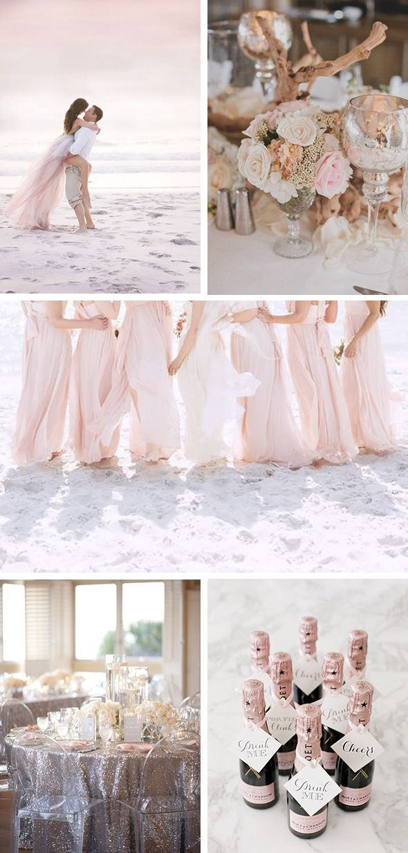 Blush Beach Wedding Ideas With Images Beach Wedding Pink