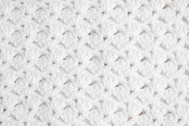 Crochet: Christening blanket offset shell (con imágenes