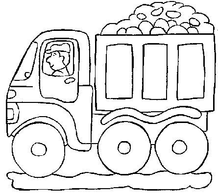 Dump Truck color it Pinterest Dump trucks and Coloring books