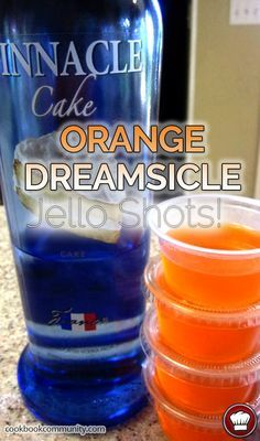 Orange Dreamsicle Jello Shots