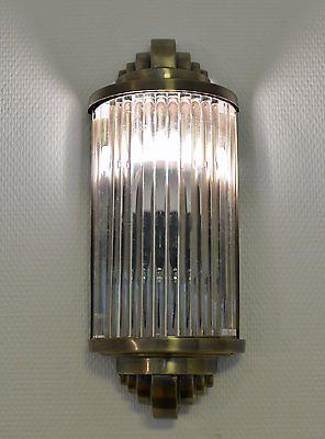 Eclairage De Cinema Lampe En Verre Art Deco Applique Murale Annees 20 Style Mur
