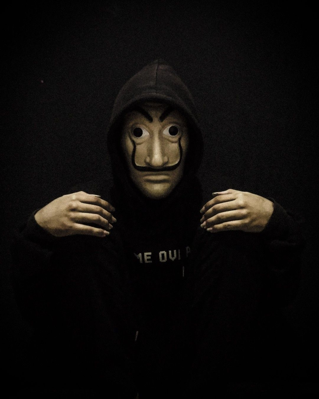 Dali Mask Money Heist Mask Space Art Photo Movie Posters Iphone money heist mask wallpaper hd