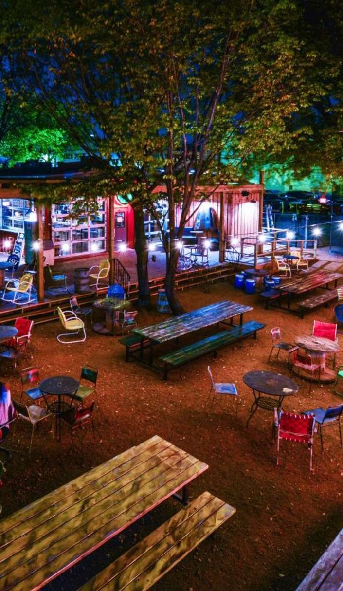 The coolest backyard in the country is filled with food trucks | Pub ...