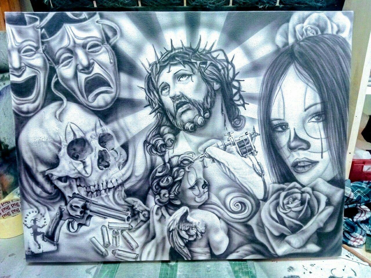 Chicano Art Crossley Custom . #custompaint #