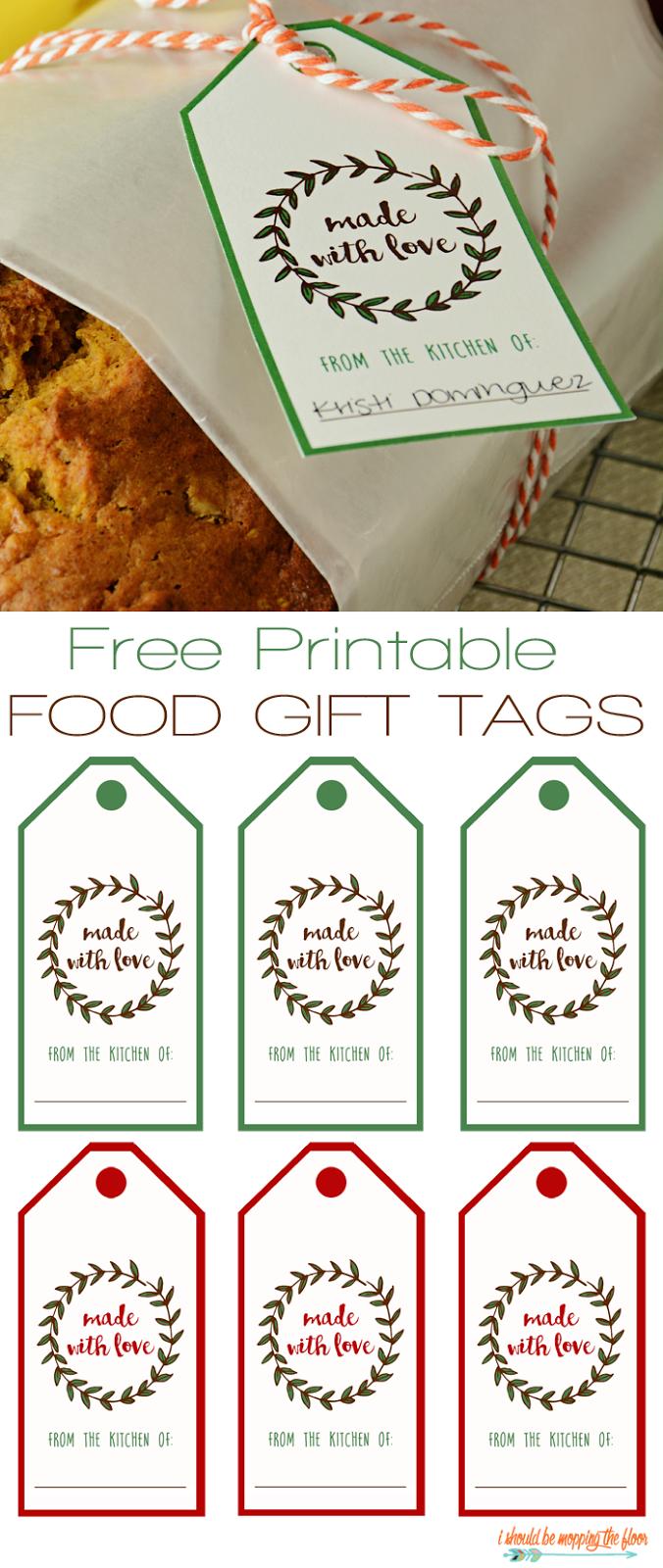 Free printable food gift tags food gifts free printable and gift free printable food gift tags negle Choice Image