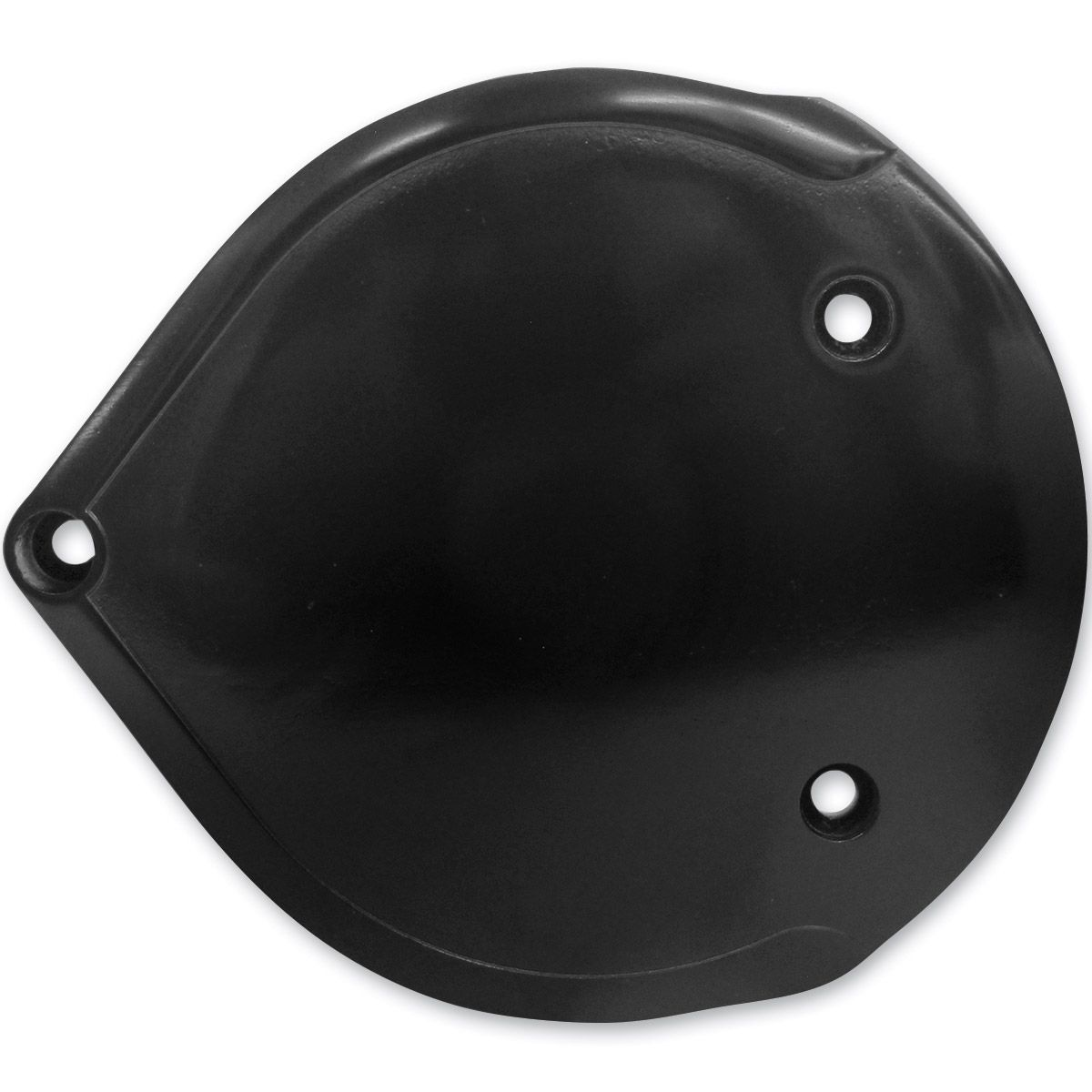 Lowbrow Customs Black Smooth Cast Air Cleaner Cover | 743-844