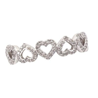 1/6 CT. T.W. Diamond Five Heart Ring in 10K White Gold *5 year anniversary*