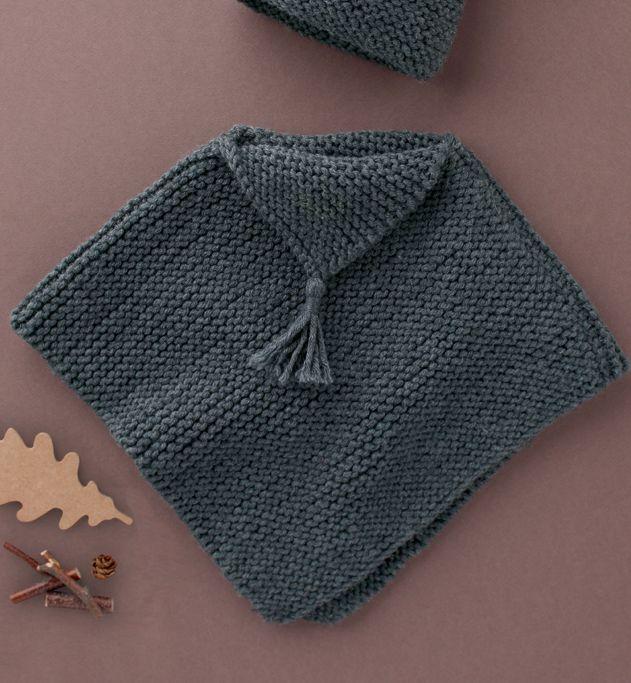Mod le poncho b b au point mousse mod les layette phildar crochet tricot broderie - Explication pour tricoter un poncho femme ...