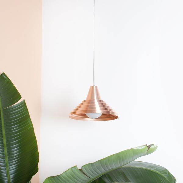 Minimalist Modern Copper pendant Light