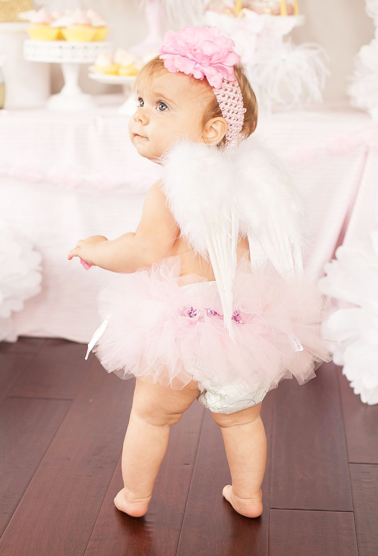 53e503f2cbbe Party Reveal: Little Angel First Birthday Party | Blogger Birthday ...