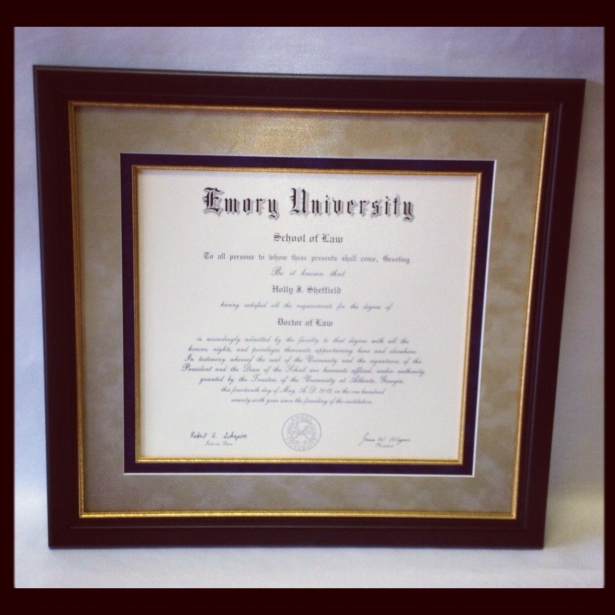 Custom framed degree Custom framing, Frame, Graduation
