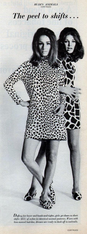 A-line shift dresses became huge in spring of 1966
