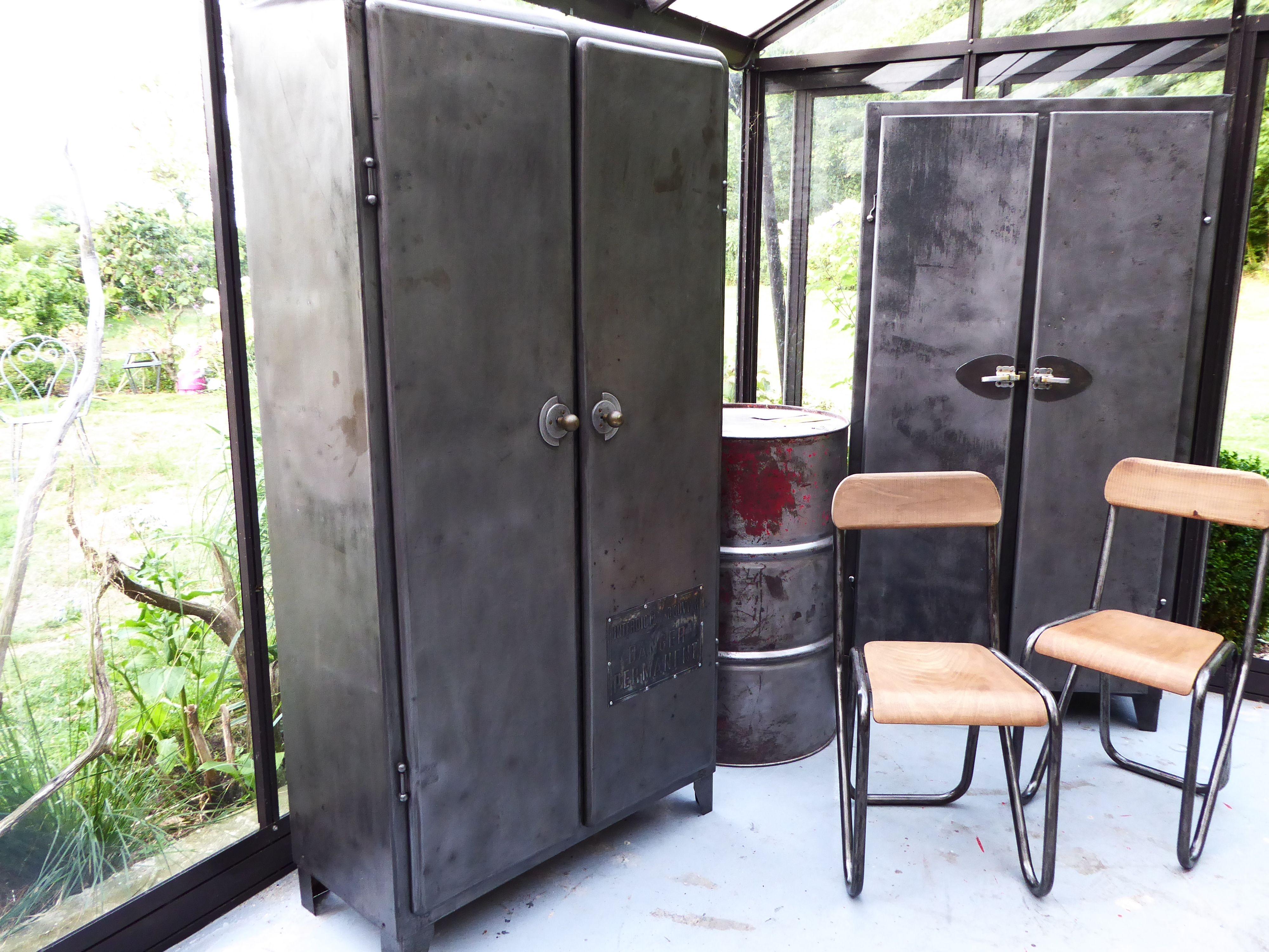meuble en m tal ann es 50 armoire de cuisine inspiration recup. Black Bedroom Furniture Sets. Home Design Ideas