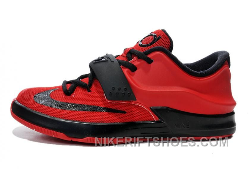 Kids Nike KD 7 (VII) Action Red/Black Cheap For Sale Online ...