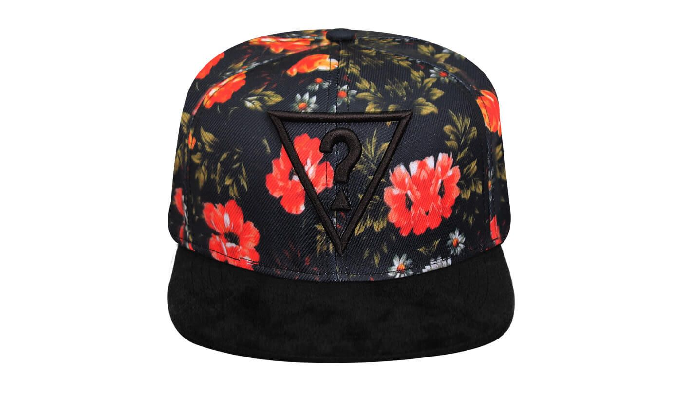 Boné snapback floral - Hezzitu fábrica de bonés personalizados ... cca2f621a0c