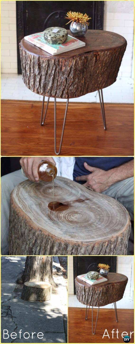 Photo of Wood Logs and Stumps DIY Ideas Projects & Furniture Instructions