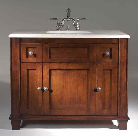 In White Furniture Guild Vanity Flair Traditional Bathroom