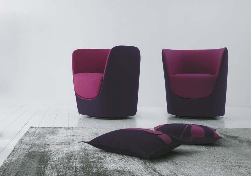 poltrona girevole Oplà Pianca | Fabric_Relaxing | Arredamento ...