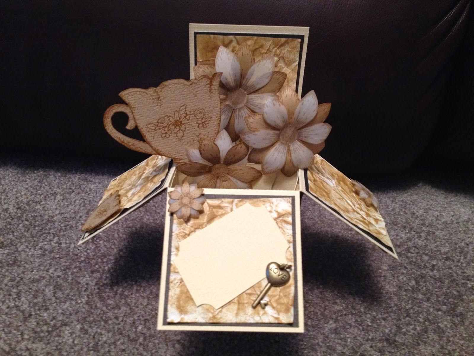 Ready to scrap heartfelt creations popup wedding box card box