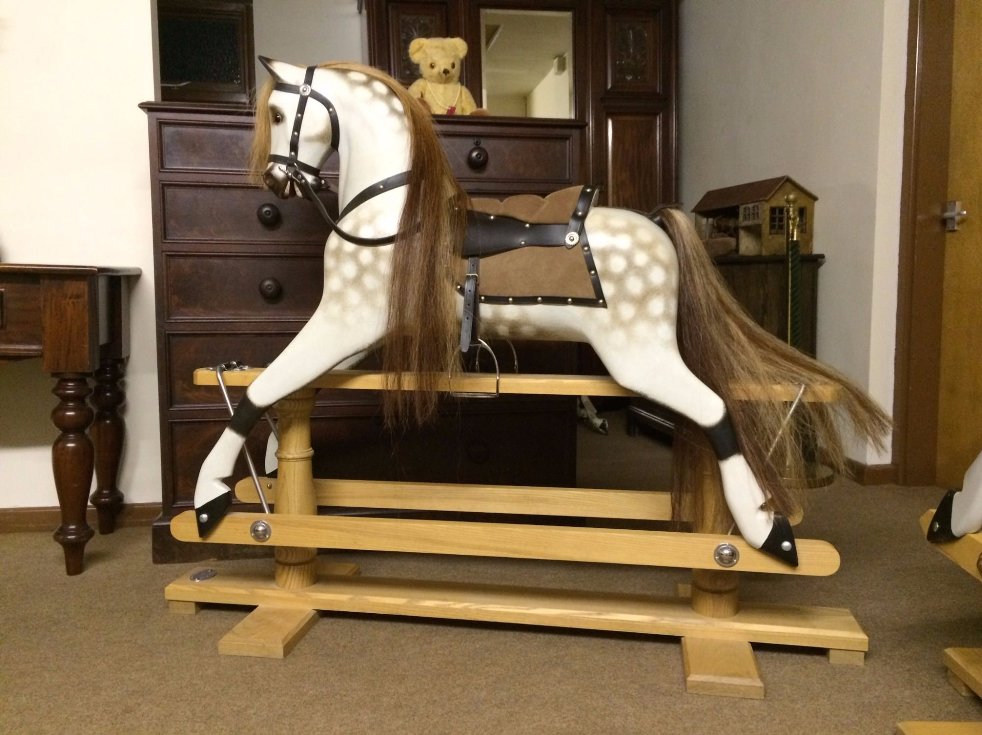 Coming Soon Large F H Ayres Antique Rocking Horse Antique Rocking Horse On Bow Rockers Please Come Back To See Antique Rocking Horse Rocking Horse Horses