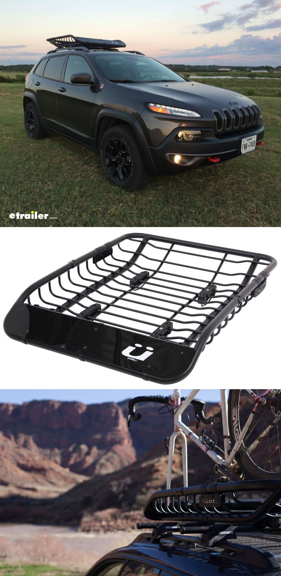 Kuat Vagabond X Roof Cargo Basket And 2 Bike Carrier Steel 52