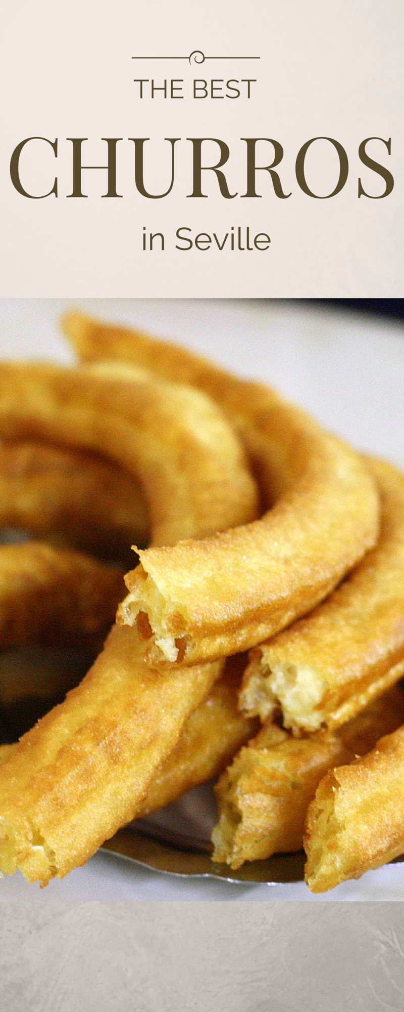 There are many places to eat churros in Seville, but here are some of our favorites. Remember– here in Spain churros vary by region in thickness and consistency. The ones in Seville are thick and airy, almost hollow in the middle at times. They are generally served for breakfast or for an afternoon snack– and never for dessert! The Best Churros in Seville. http://devoursevillefoodtours.com/best-churros-in-seville/