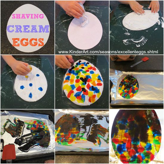 excellent shaving cream eggs for easter monthly seasonal crafts