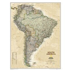 National Geographic Maps | South America Executive