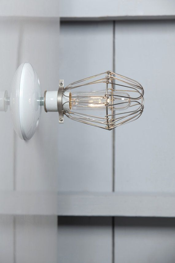 Cage Sconce Light Vintage Wire Cage Light Wall Mount by IndLights ...