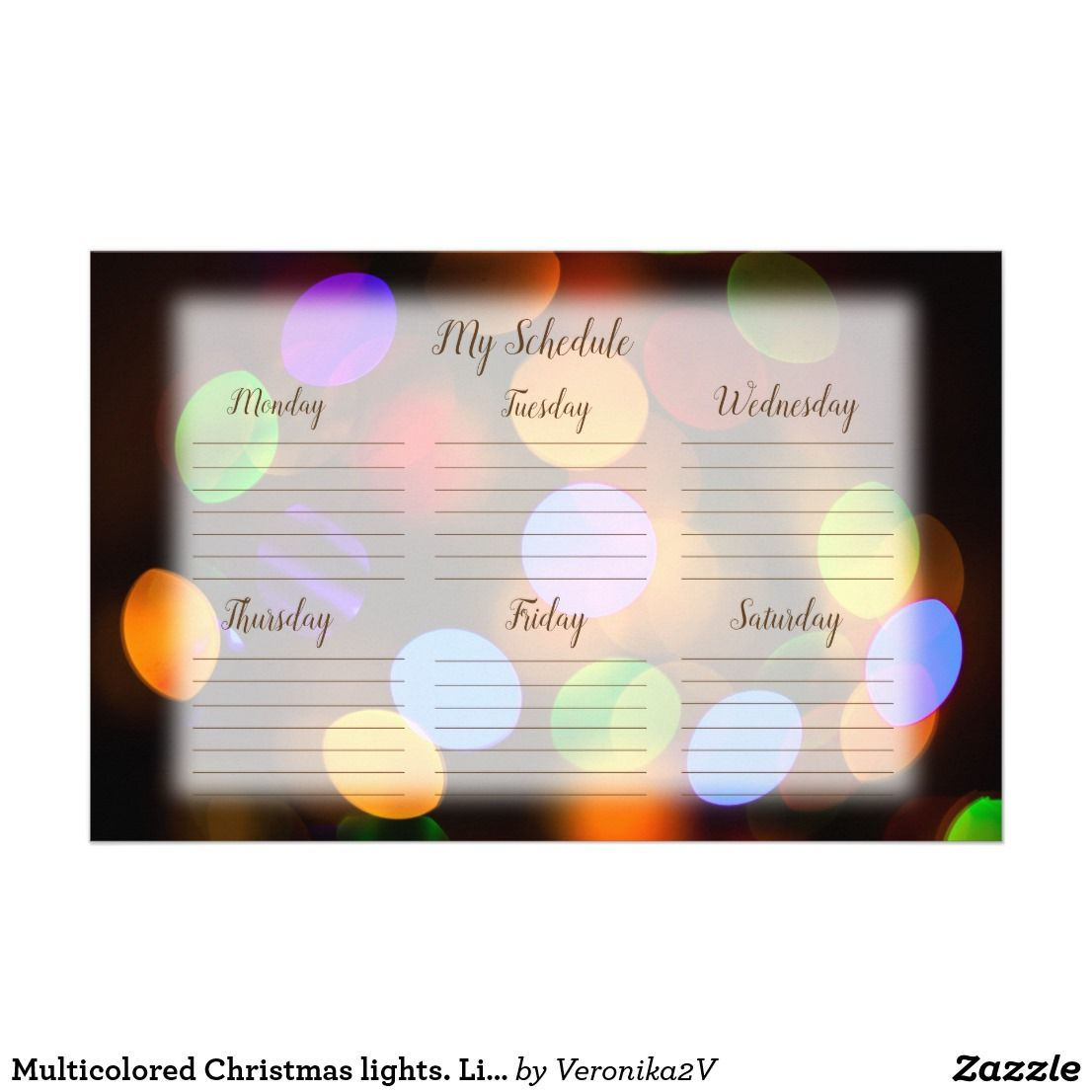 Multicolored Christmas Lights. Lined Schedule. Stationery | Zazzle.com Multicolored Christmas lights. Lined schedule. Stationery | Zazzle.com Orange Things t orange line schedule