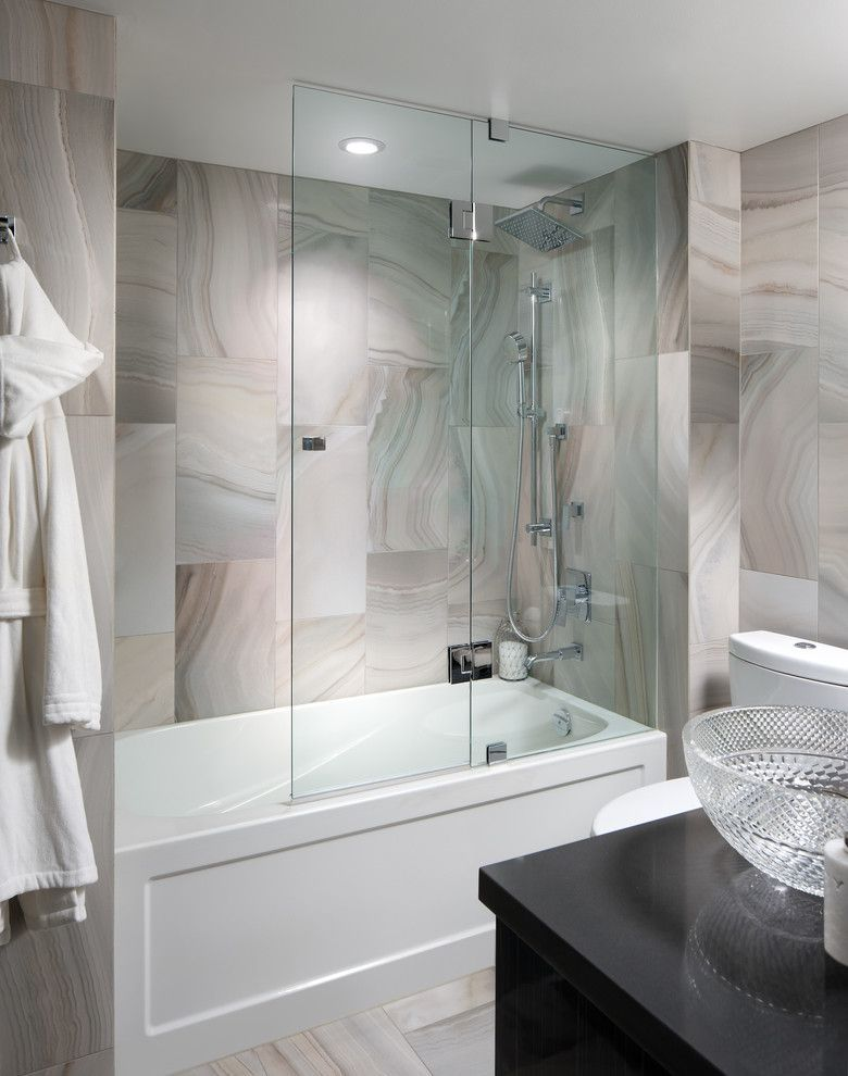 How To Clean Glass Shower Doors For A Contemporary Bathroom With A