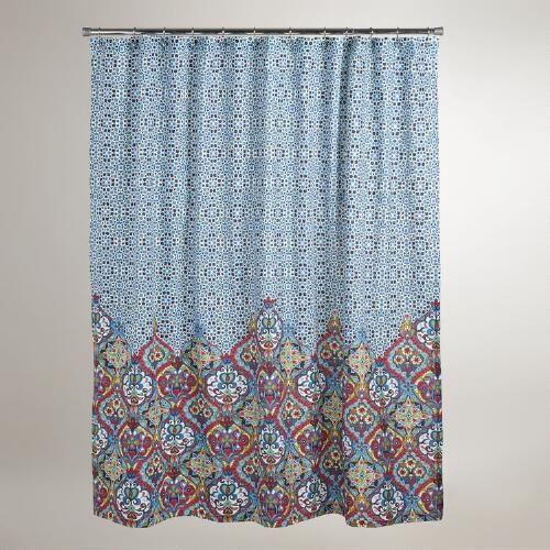 Moroccan Shower Curtain Boho Shower Curtain Shower Curtain
