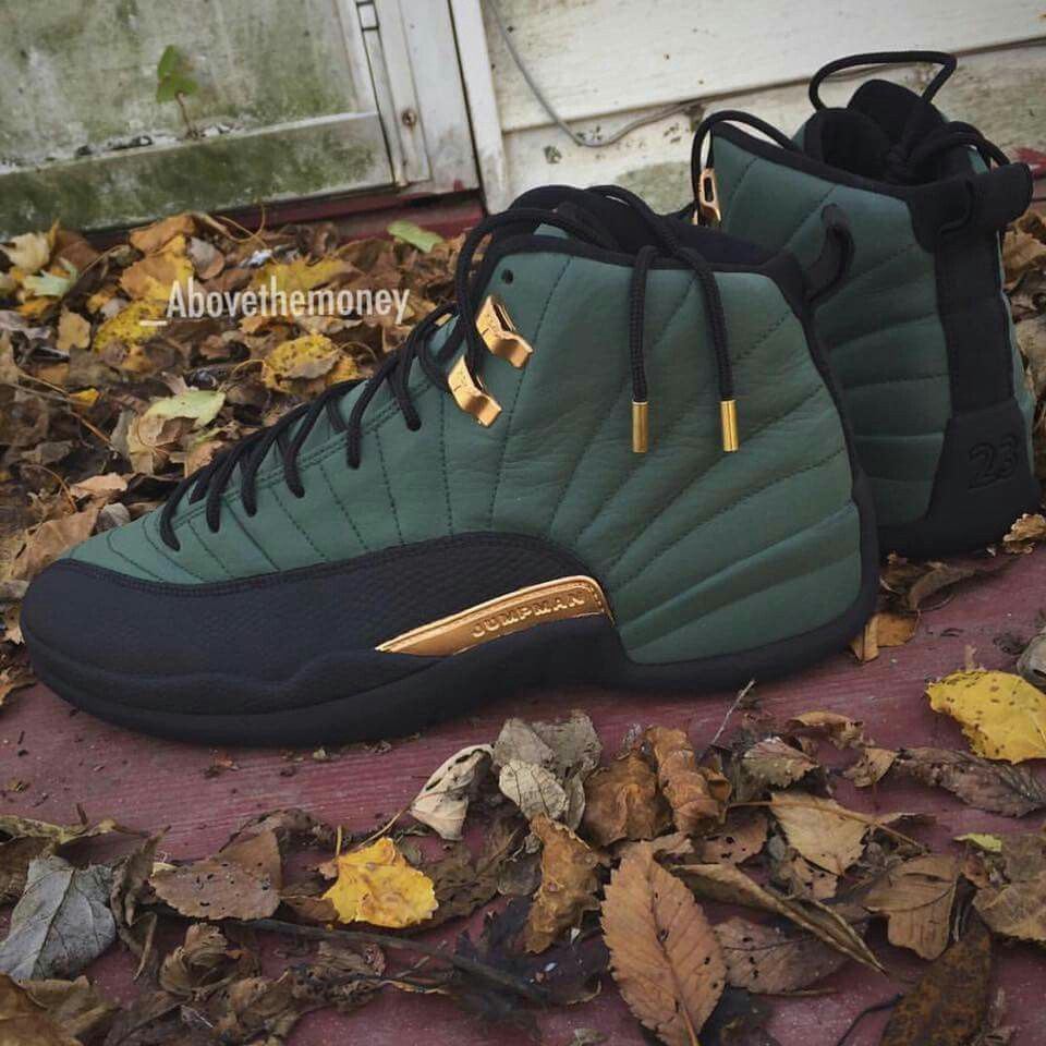 b210093045bd62 Jordans Retro 12 s Olive