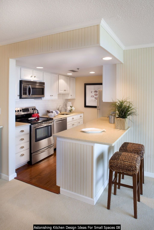 30 Astonishing Kitchen Design Ideas For Small Spaces Small Kitchen Design Apartment House Design Kitchen Tiny House Kitchen
