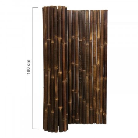 Black Bamboo Fence Roll Deluxe 180 x 180 cm (met