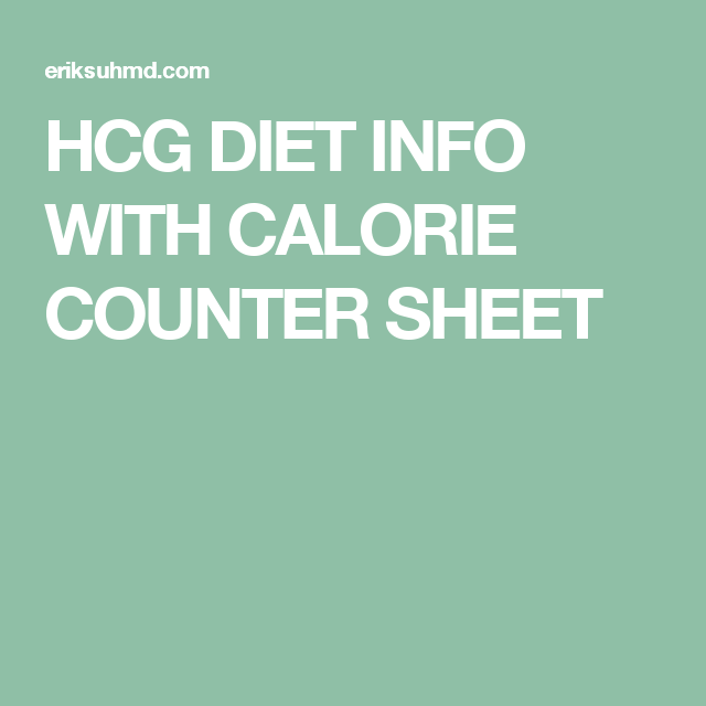 hcg diet info with calorie counter sheet hcg phase 2 recipes