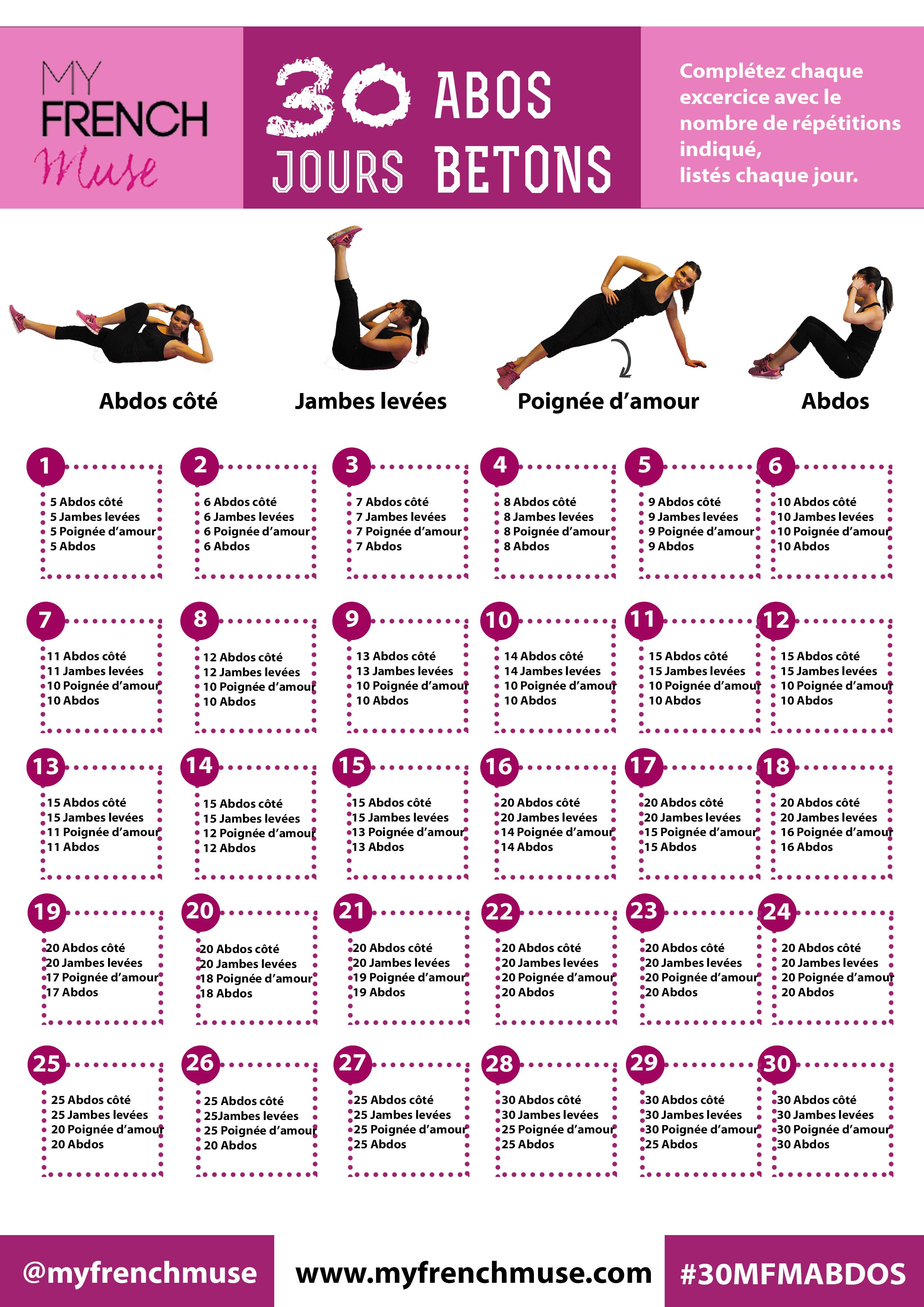 Un programme gratuit de 30 jours avec des exercices ciblés ...