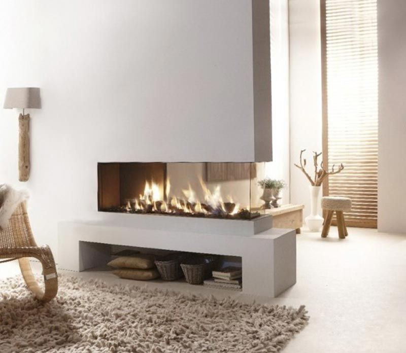 Ventless Gas Fireplace 2 Sided Fire Pit Landscaping Ideas