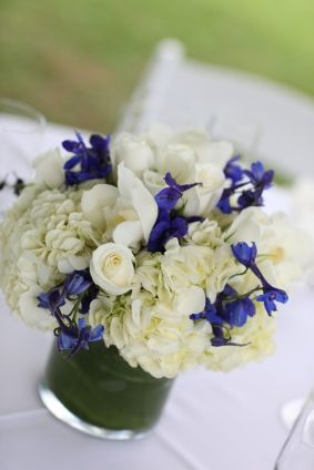 white + royal blue decoration