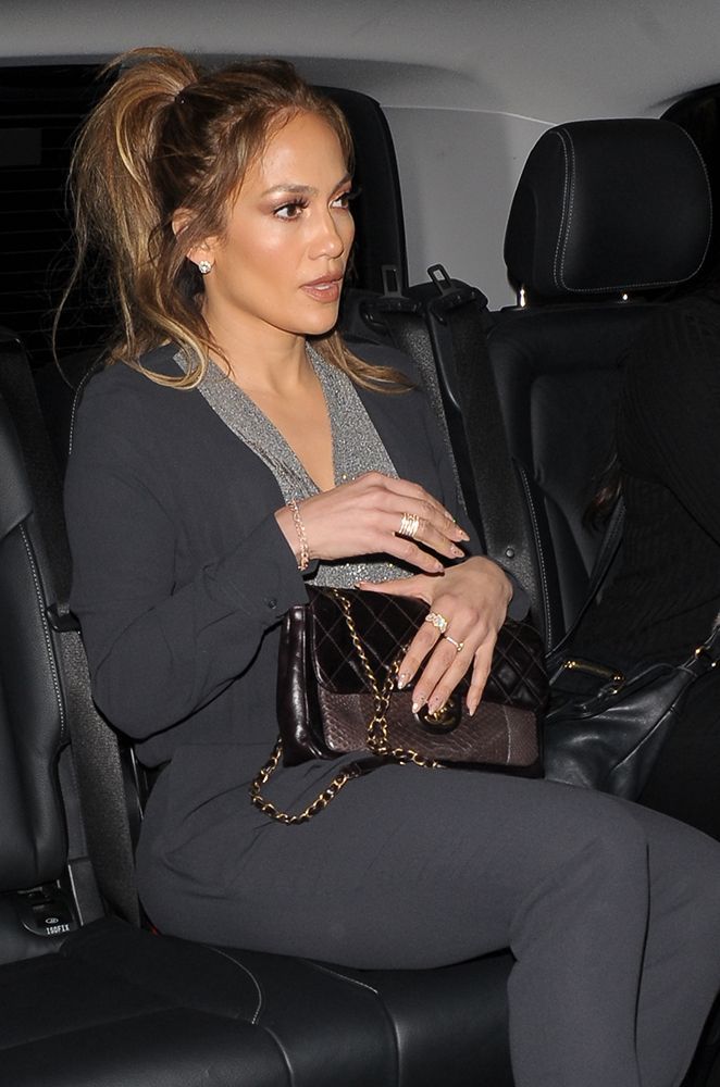 9f73d36e2066b8 J.Lo Chanel Python Classic Flap Bag | celebrity bags | Bags, Chanel ...