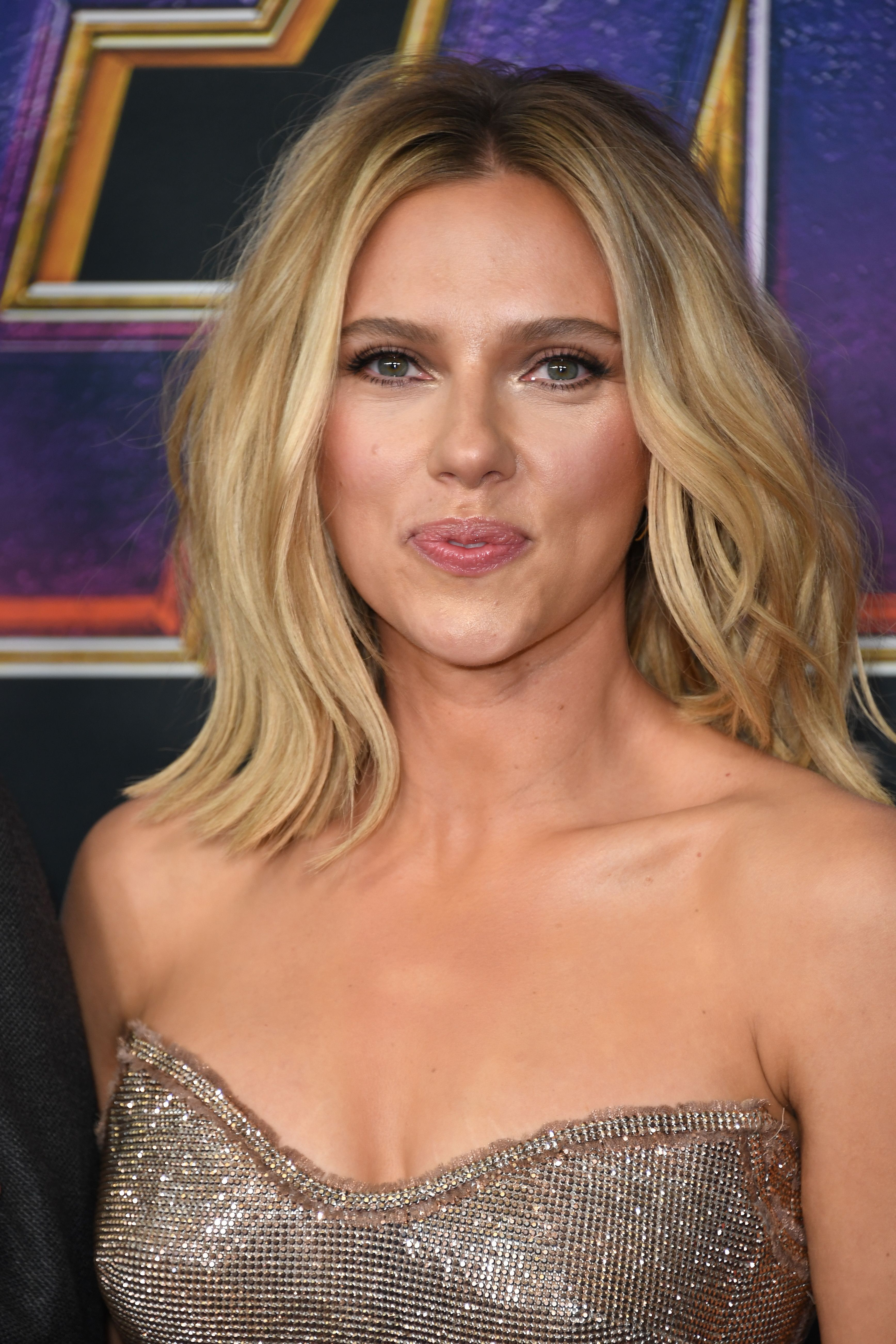 Scarlett Johansson At The Avengers Endgame Premiere Photo Credits Getty Images Mid Length Hair Hair Lengths Scarlett Johansson