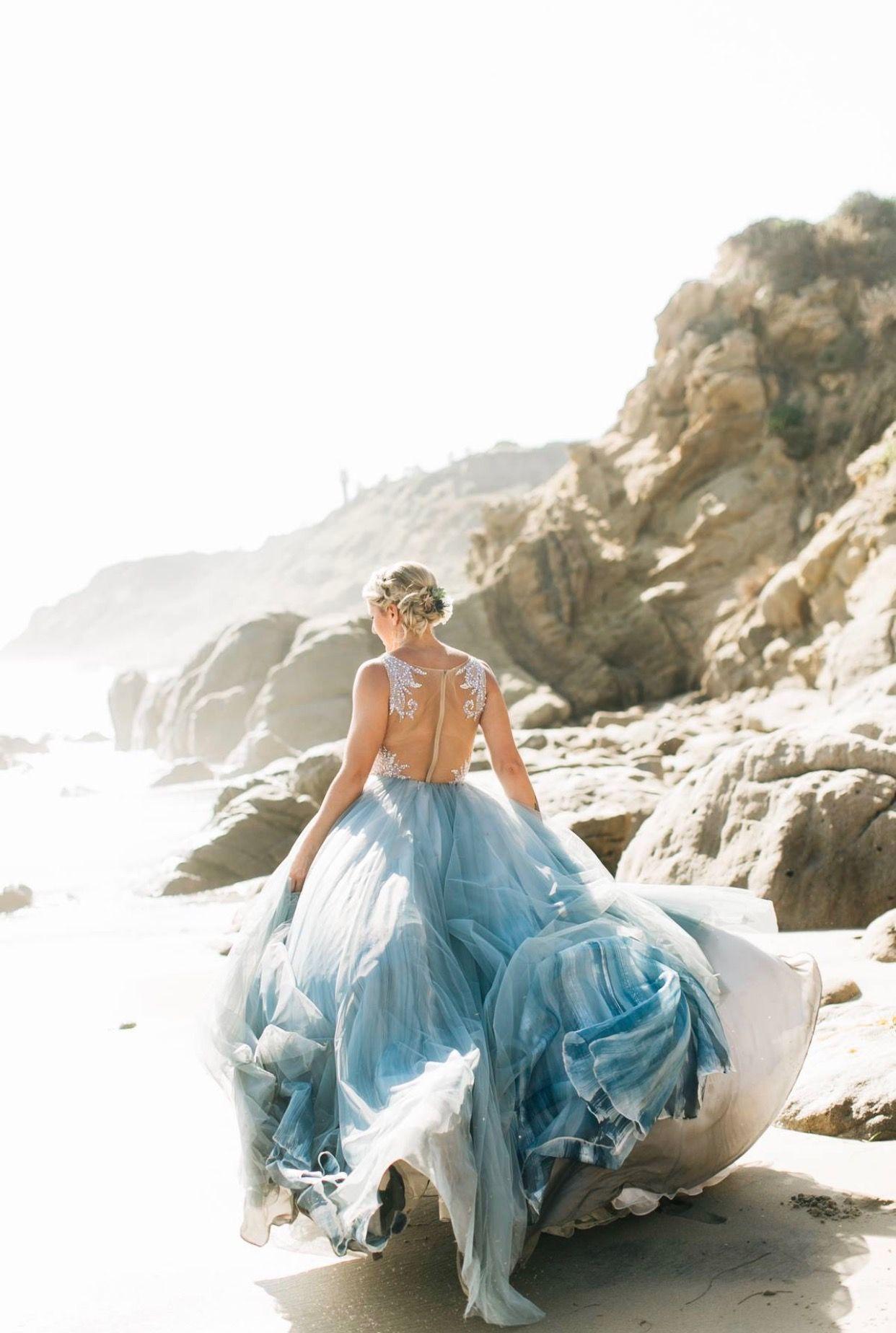 Hayley paige kenny gown chantel lauren steel blue mae skirt