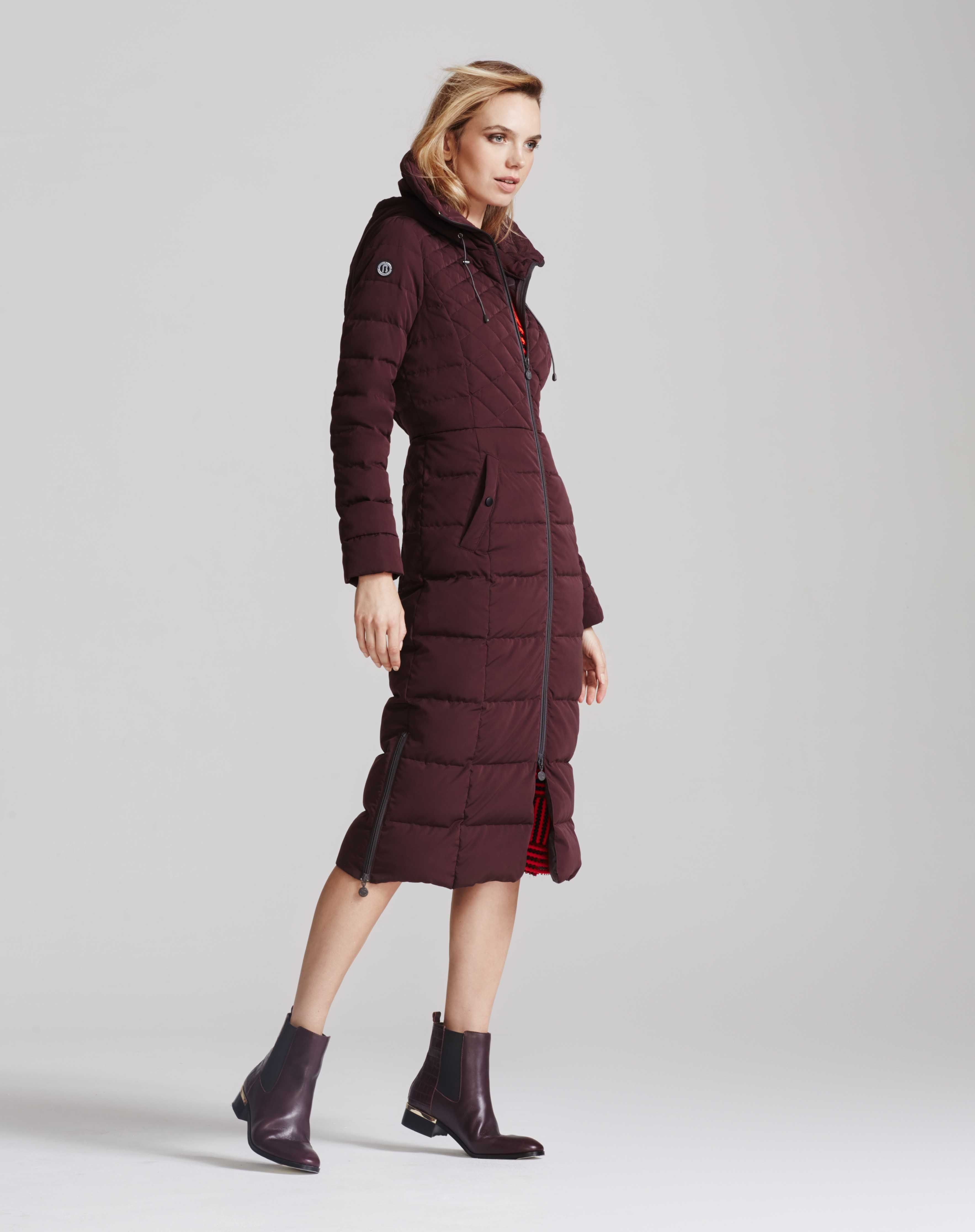 Bernardo Quilted Long Coat With Ecoplume Fill Nordstrom Long Quilted Coat Long Coat Coat [ 4462 x 3533 Pixel ]