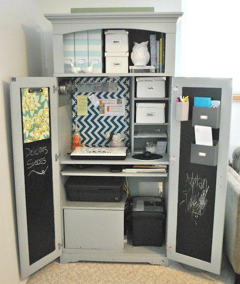 25+ Ideas for craft organization armoire home office #ateliercoutureamenagement