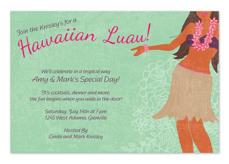 Hawaiian Luau Party Invitations by Invitation Consultants Item
