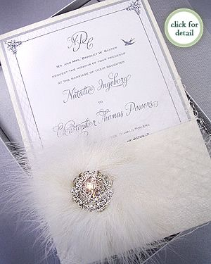 Pavlova Luxury Couture Wedding Invitation