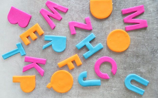 Use clay to make alphabet magnets for the fridge.