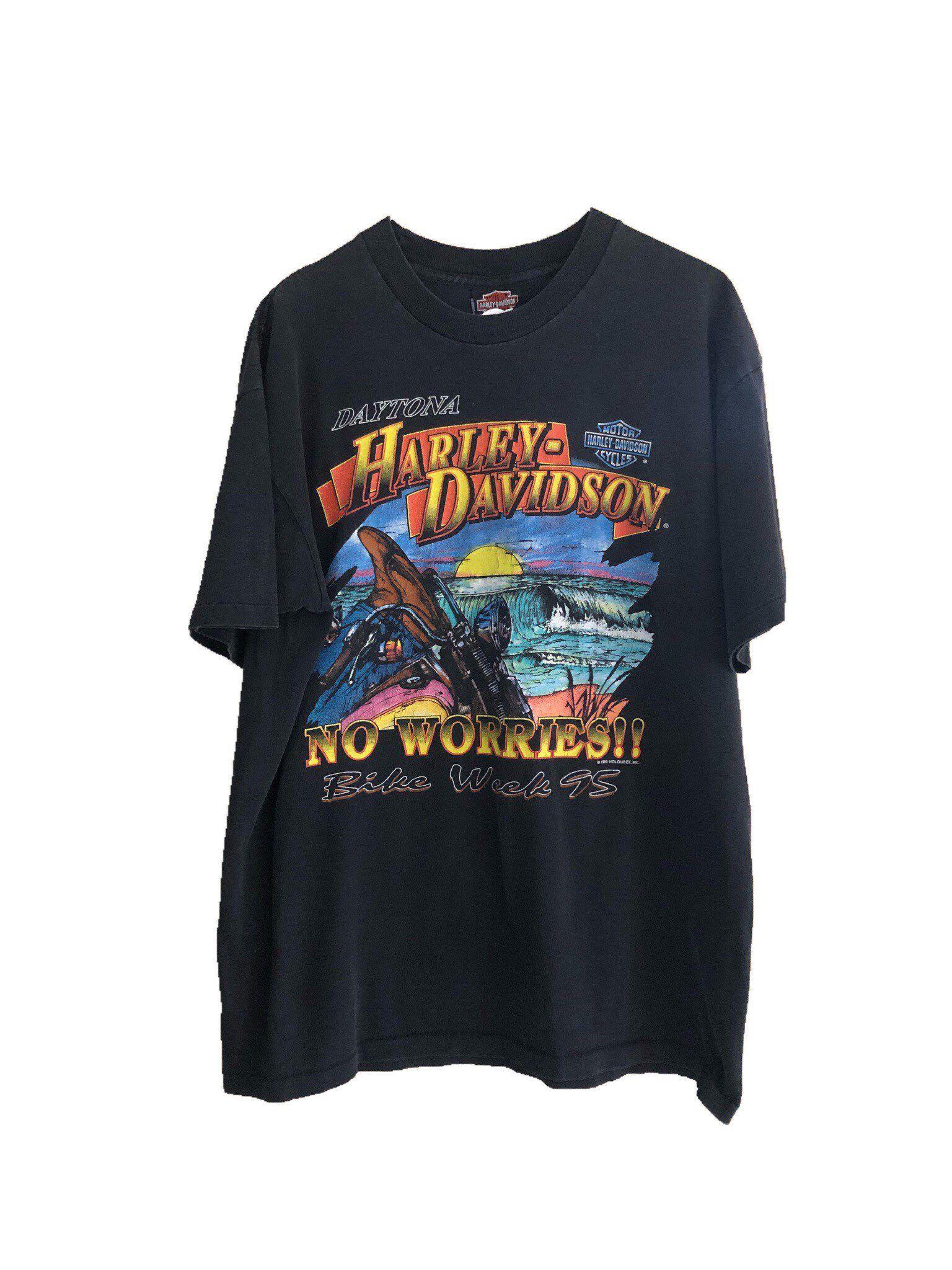 Vtg 94 Harley Davidson 3d Shirt Bike Week 95 Mens Women Etsy Rad Shirts Vintage Outfits 3d Shirt