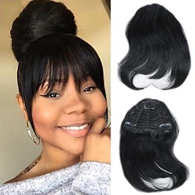 Mtai Human Hair Bangs Clip On Real Hair For Black Women Black Color Hair Bangs Hair Color For Black Hair Hair Styles Hairstyles With Bangs